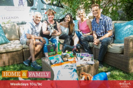"""Guest co-hosts Ali Fedotowsky-Manno and Dylan Neal welcome """"Sebi and the Land of Cha Cha Cha"""" authors and actors, Eric Winter and Roselyn Sánchez. """"Crime Watch Daily"""" host, Chris Hansen visits our home. Chef Eric Greenspan cooks pork belly and sweet potato hash. Dr. Shefali Tsabary has tips for helping children with homework struggles. Food Network's """"Chopped Junior"""" champion, Mason Partak makes sushi stacks. Pet rescue expert Larissa Wohl is here with Susan Sims and Greg Sims from FIDO Friendly Magazine to discuss the """"Get Your Licks on Route 66"""" campaign for dog shelters. Ken Wingard has DIY medal display. Kym Douglas is throwing the ultimate kickoff tailgate party. Maria Provenzano makes birch wood planters. Sophie Uliano shows us ways to live a holistic lifestyle. Credit: © 2017 Crown Media United States, LLC 