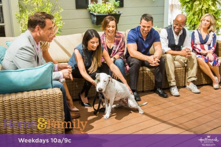 "Mark Steines and Debbie Matenopoulos welcome actress Holly Robinson-Peete and she gives us a preview of Hallmark Movies & Mysteries' ""The Most Wonderful Miracles of Christmas"" movie lineup. Actor Michael Luwoye from ""Hamilton"" joins us. Chef Casey Thompson cooks hush puppies with dungeness crab. Confectioner Valerie Gordon is making a butter cake with milk chocolate frosting. Activist and labor leader Dolores Huerta shares her incredible story. Pet rescue expert Larissa Wohl is here with professional dog trainers Nate Schoemer and Laura London from Animal Planet's ""Rescue Dog to Super Dog."" Ken Wingard shows us DIY top hat lights. Maria Provenzano creates vanity jars. Lawrence Zarian gives a makeover to a very deserving woman. Credit: © 2017 Crown Media United States, LLC 